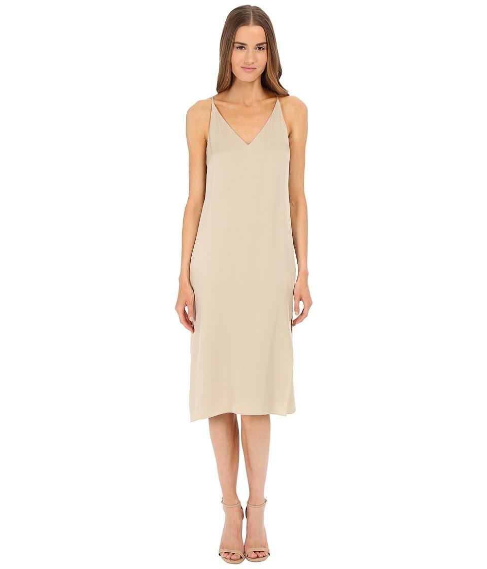 Theory Kyun Dress Classic Khaki Womens Dress