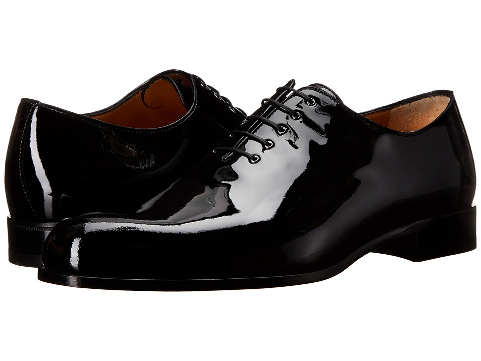 a. testoni Patent Leather Dress Oxford Black Mens Lace up casual Shoes