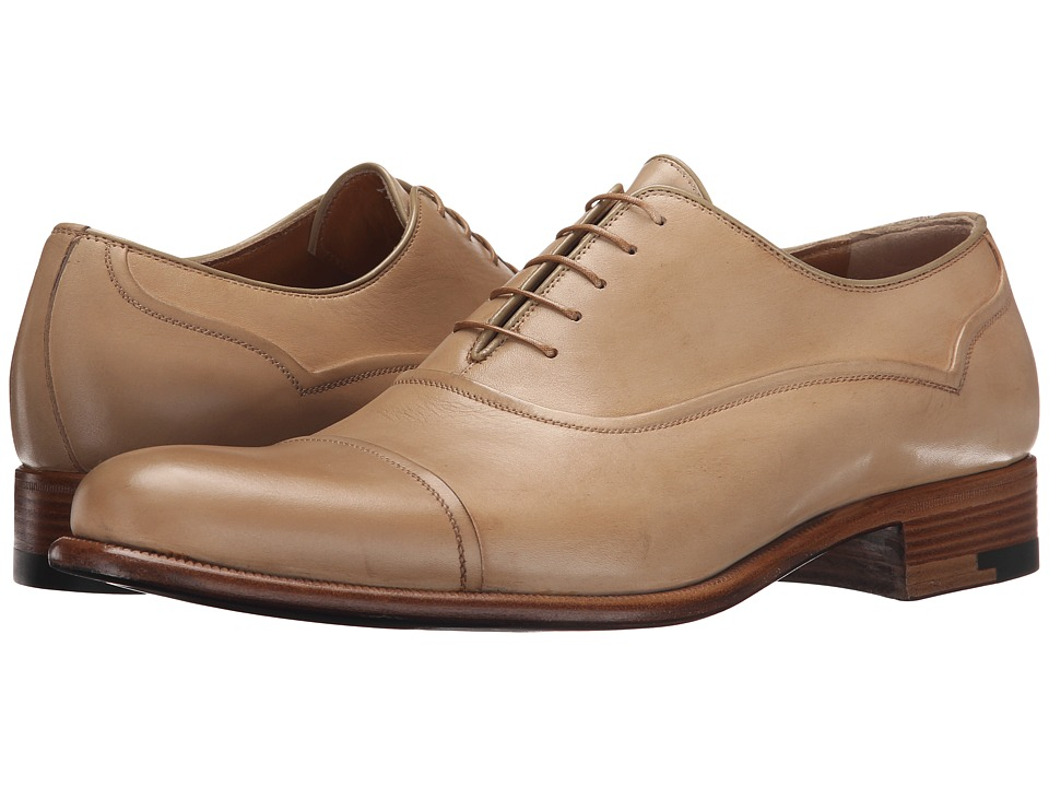 a. testoni Black Label Delave Calf Oxford Nude Mens Lace up casual Shoes