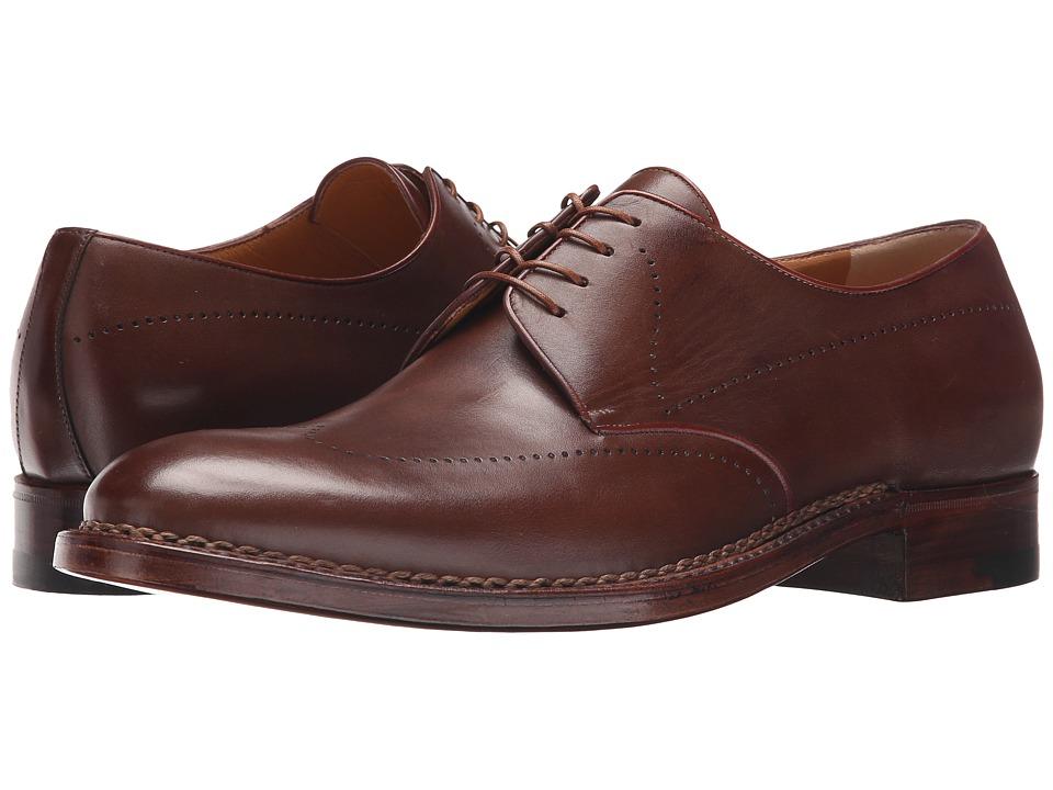 a. testoni Amedeo Testoni Delave Calf Derby Caramel Mens Shoes