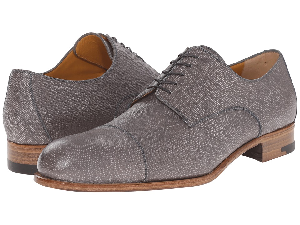 a. testoni Grainy Shiny Calf Derby Pearl Mens Shoes