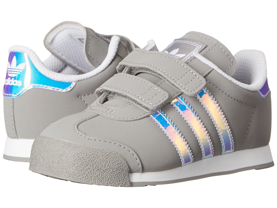 adidas Originals Kids Samoa (Toddler) (Solid Grey/White) Kids Shoes