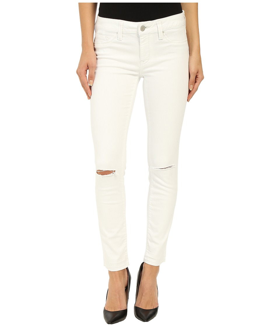 Mavi Jeans Adriana Ankle in White Destructed Tribeca White Destructed Tribeca Womens Jeans