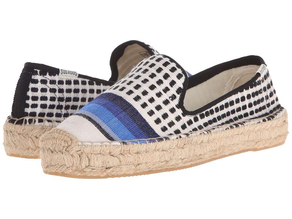 Soludos Lem Lem For Soludos Collaboration Lula Black/White/Blue Womens Shoes