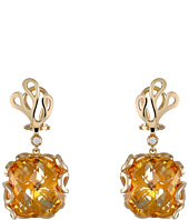 Miseno - Sea Leaf Citrine/Diamond Earrings