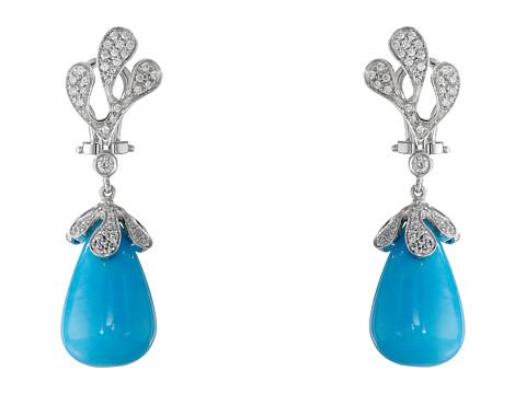 Miseno Sea Leaf Turquoise/Diamond Earrings - White Gold