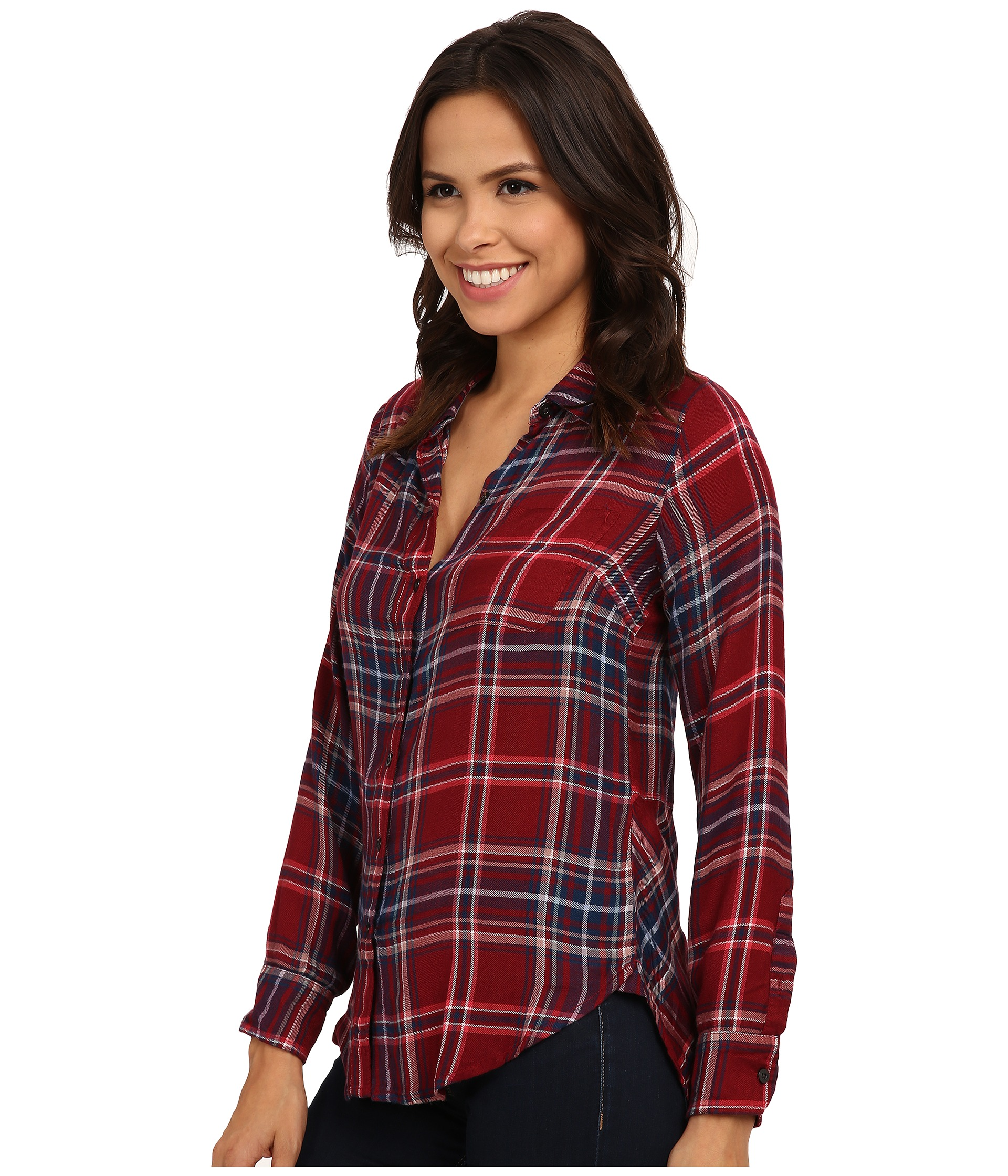 Lucky brand bungalow flannel for Best flannel shirt brands