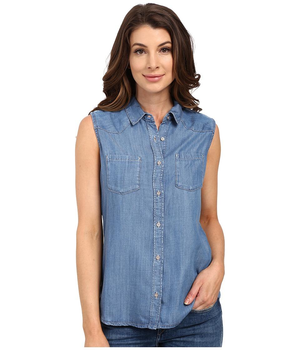 Mavi Jeans Alena Mid Tencel Womens Short Sleeve Button Up