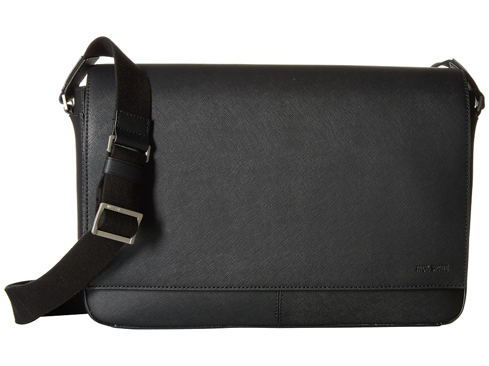 Jack Spade Barrow Leather Messenger Black Messenger Bags