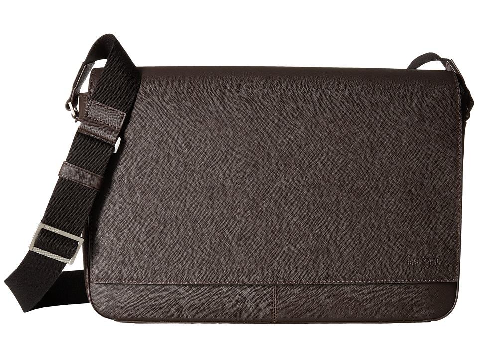 Jack Spade Barrow Leather Messenger Brown Messenger Bags