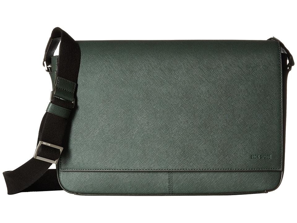 Jack Spade Barrow Leather Messenger Green Messenger Bags