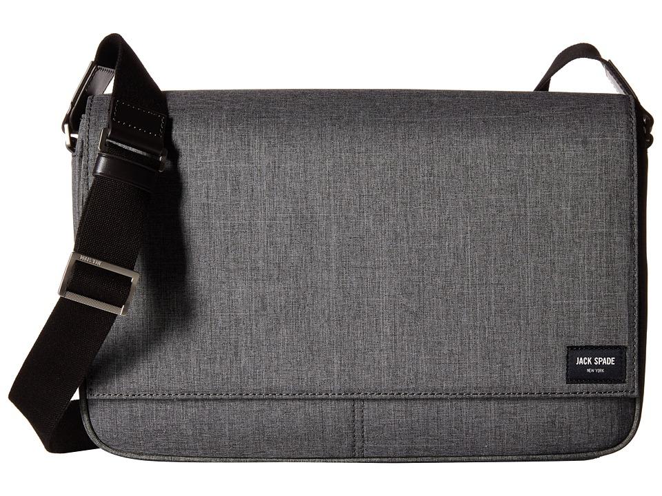 Jack Spade - Tech Oxford Messenger (Grey) Messenger Bags