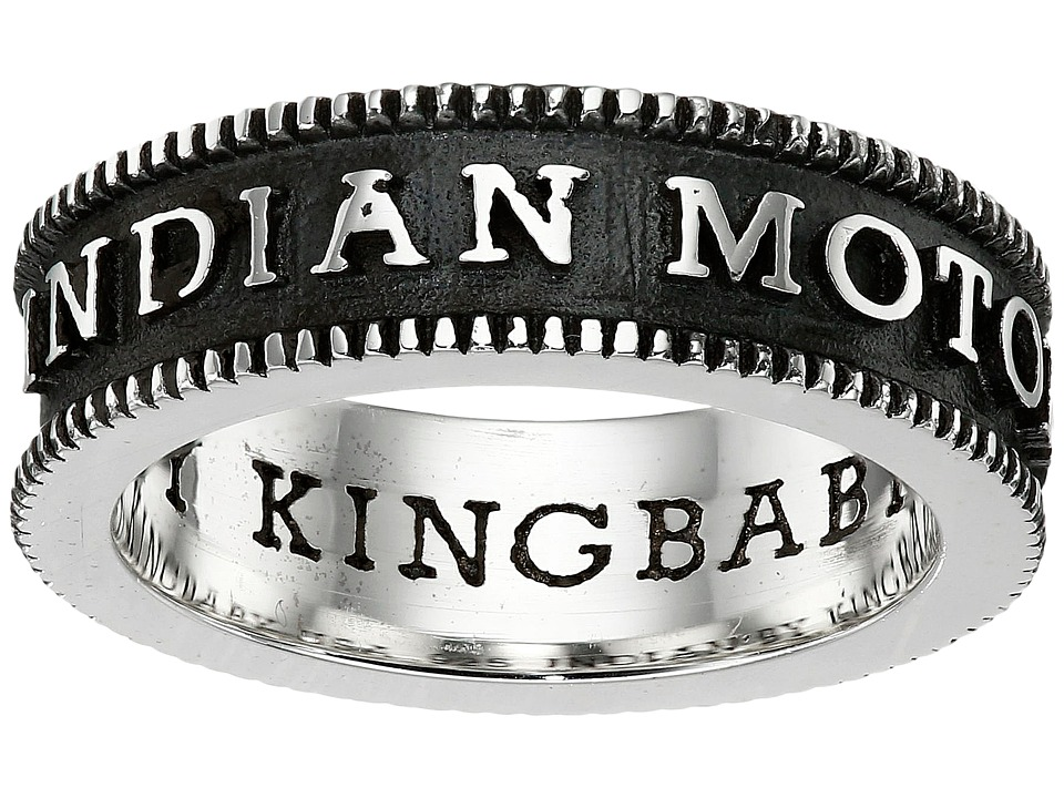 King Baby Indian Motorcycle Logo Coin Edge Band (Silver) ...