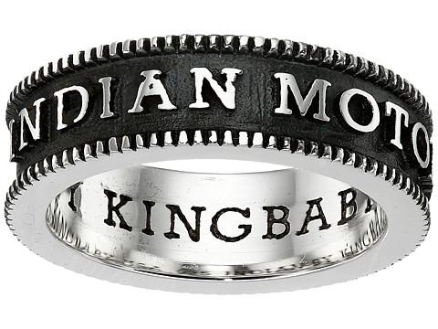 King Baby Studio Indian Motorcycle Logo Coin Edge Band - Silver