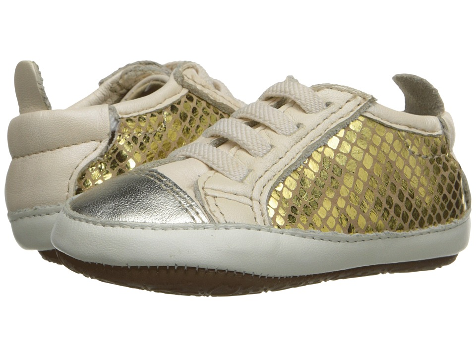 Old Soles Bambini Jogger Infant/Toddler Gold/Gold Snake/Pearl Metallic Girls Shoes