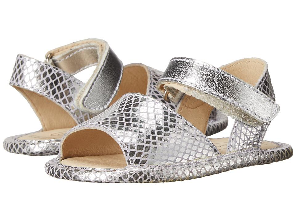 Old Soles Sandal Up Infant/Toddler Lavender Snake/Silver Girls Shoes