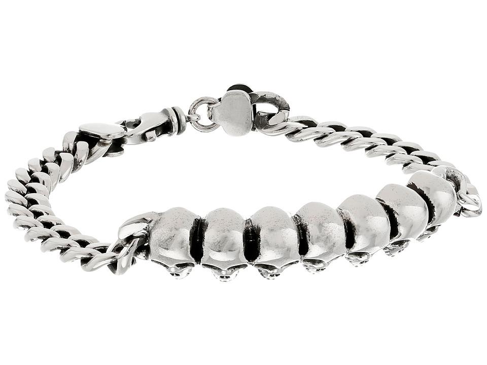 King Baby Studio - Curb Link ID Bracelet with Infinity Skulls