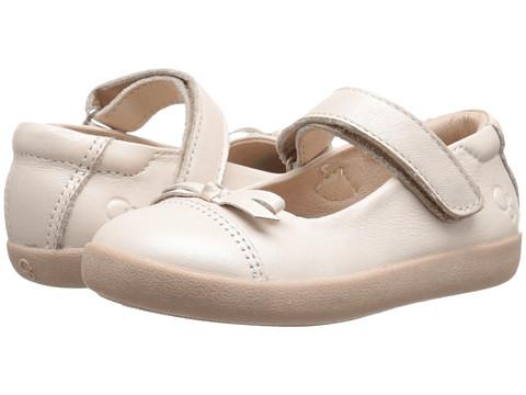 Old Soles Sista Flat (Toddler/Little Kid) - Pearl Metallic
