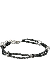 King Baby Studio - Square Hematite Double Strand Bracelet with Skulls