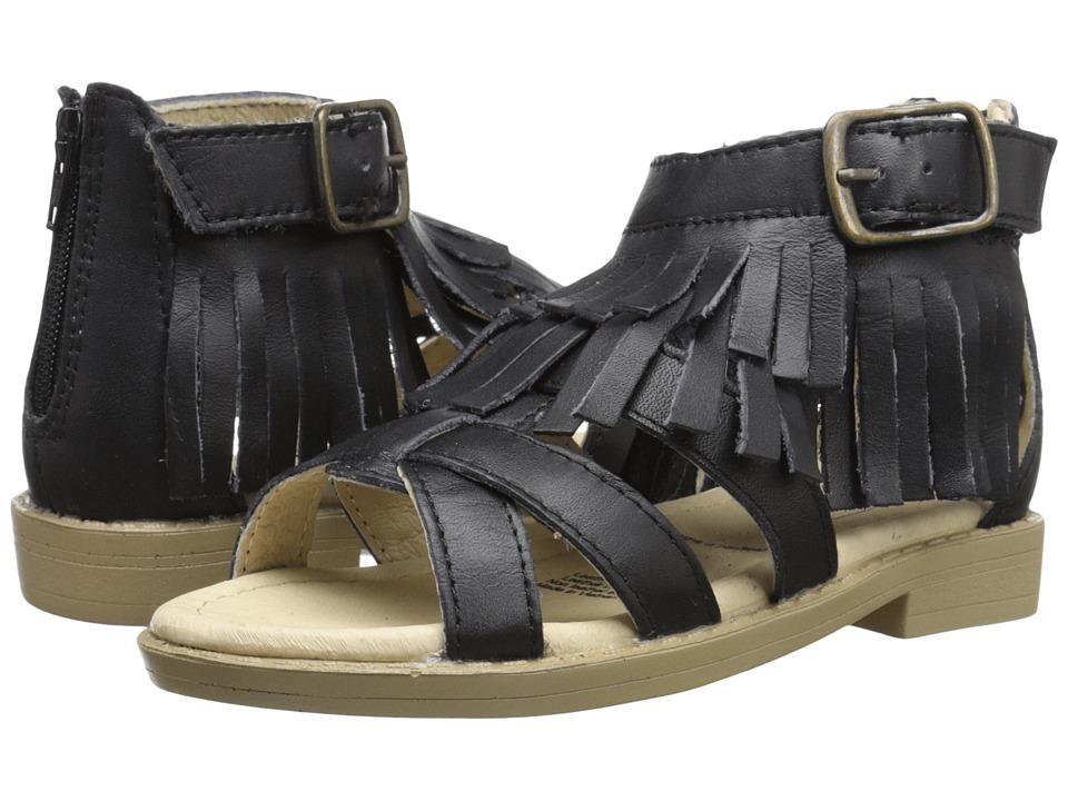 Old Soles Sandal Fringe Toddler/Little Kid Black Girls Shoes