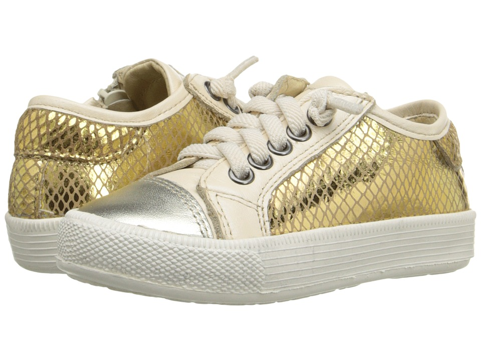 Old Soles Glam Jogger Toddler/Little Kid Gold/Gold Snake/Pearl Metallic Girls Shoes