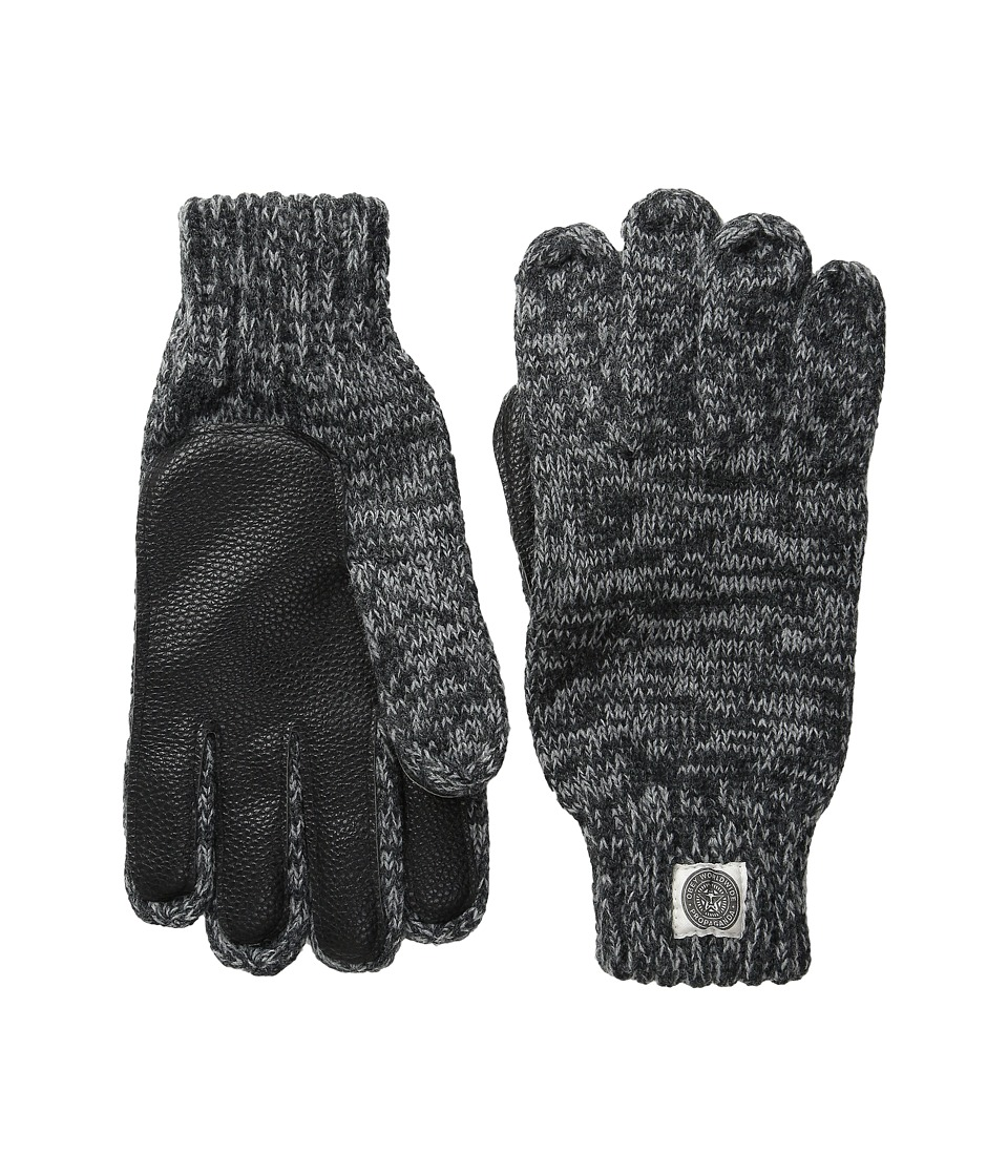 Obey Boulder Gloves Heather Charcoal Extreme Cold Weather Gloves