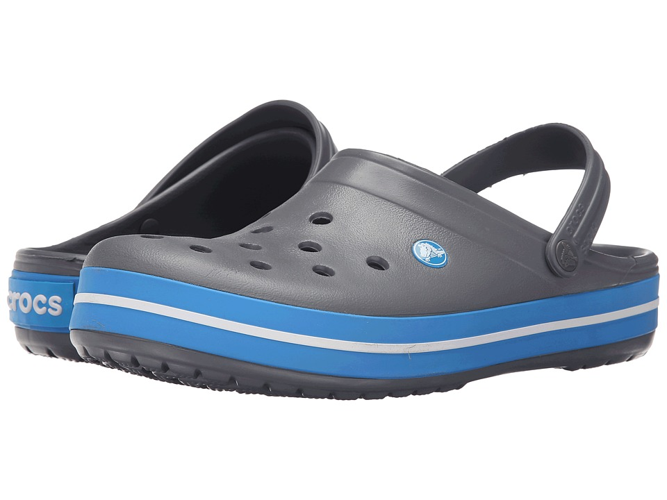 Crocs - Crocband Clog (Charcoal/Ocean) Clog Shoes
