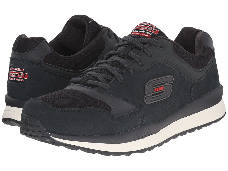 SKECHERS Direct Flight (Black/Red) Men