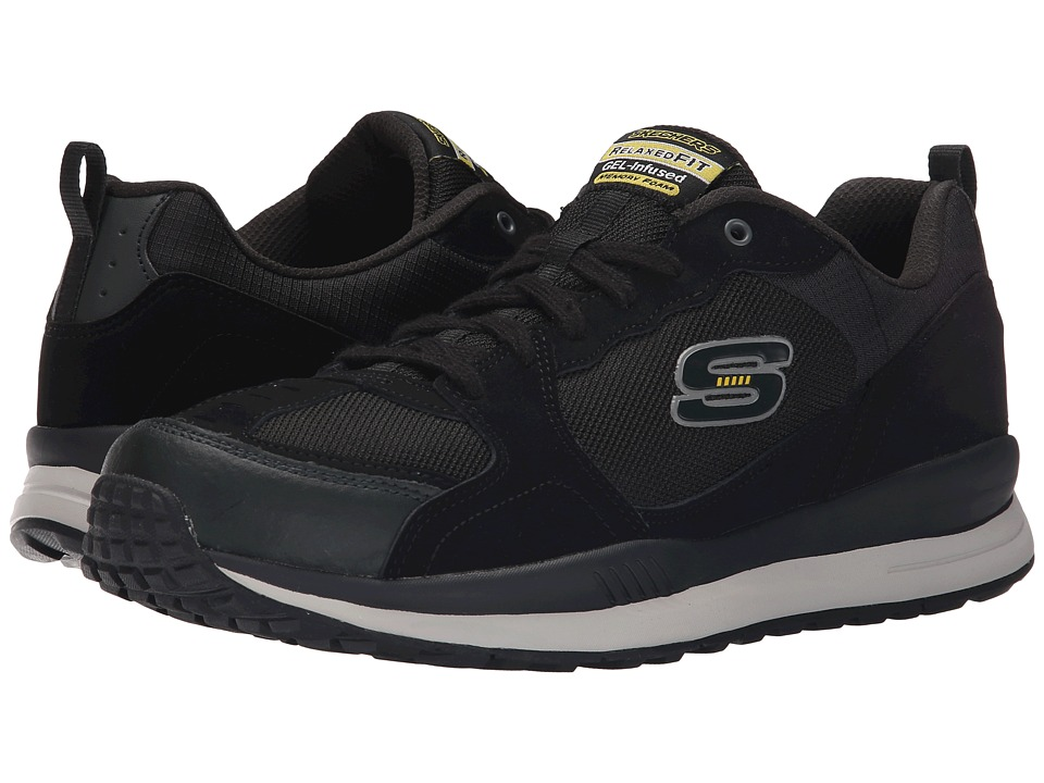 SKECHERS Direct Flight One Way (Black/Yellow) Men