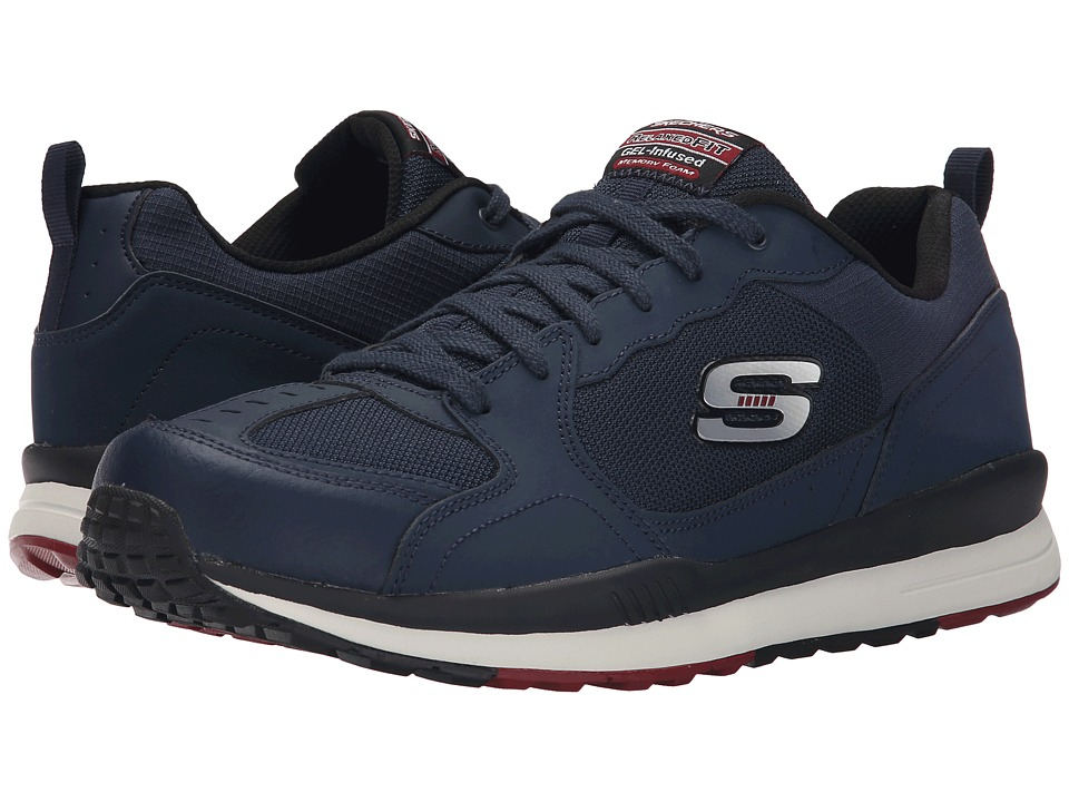 SKECHERS Direct Flight One Way (Navy/Red) Men