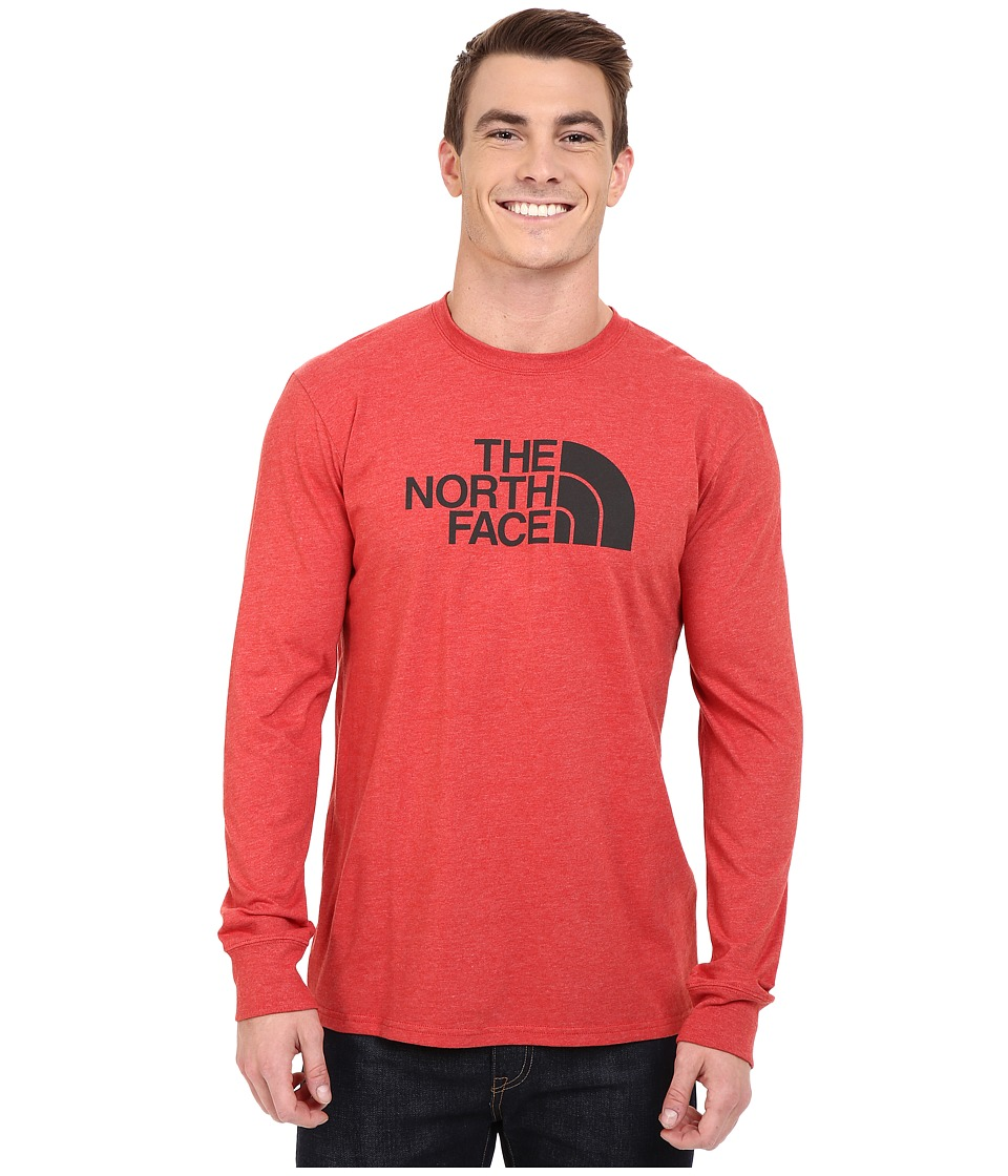 The North Face - Long Sleeve Half Dome Tee (Pompeian Red Heather/Asphalt Grey) Men