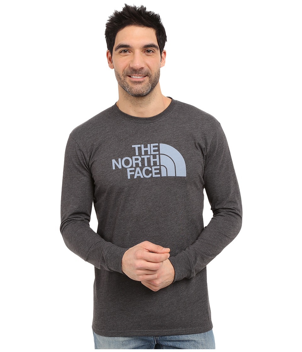 The North Face - Long Sleeve Half Dome Tee (TNF Dark Grey Heather/Faded Denim) Men