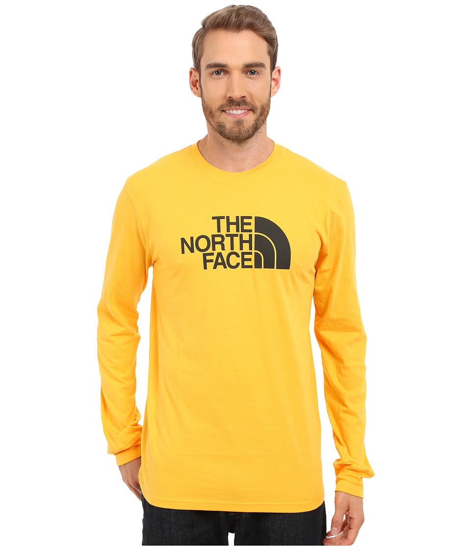 The North Face - Long Sleeve Half Dome Tee (Citrus Yellow/Asphalt Grey) Men
