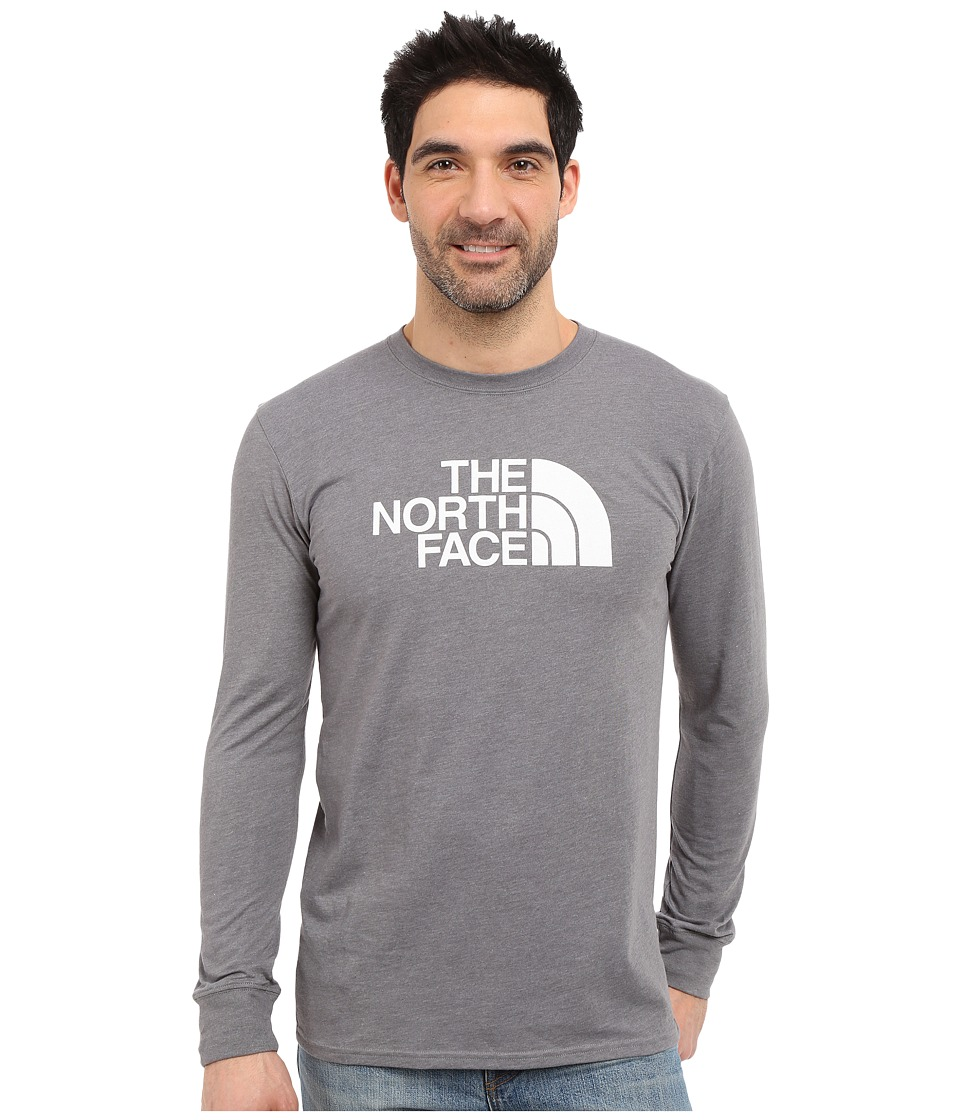 The North Face - Long Sleeve Half Dome Tee (TNF Medium Grey Heather/TNF White) Men