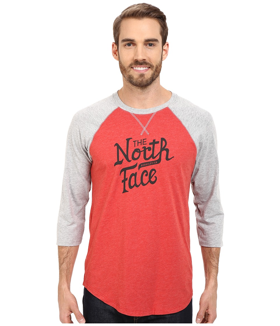The North Face - 3/4 Sleeve Alpine Varsity Club Tee (Pompeian Red Heather) Men