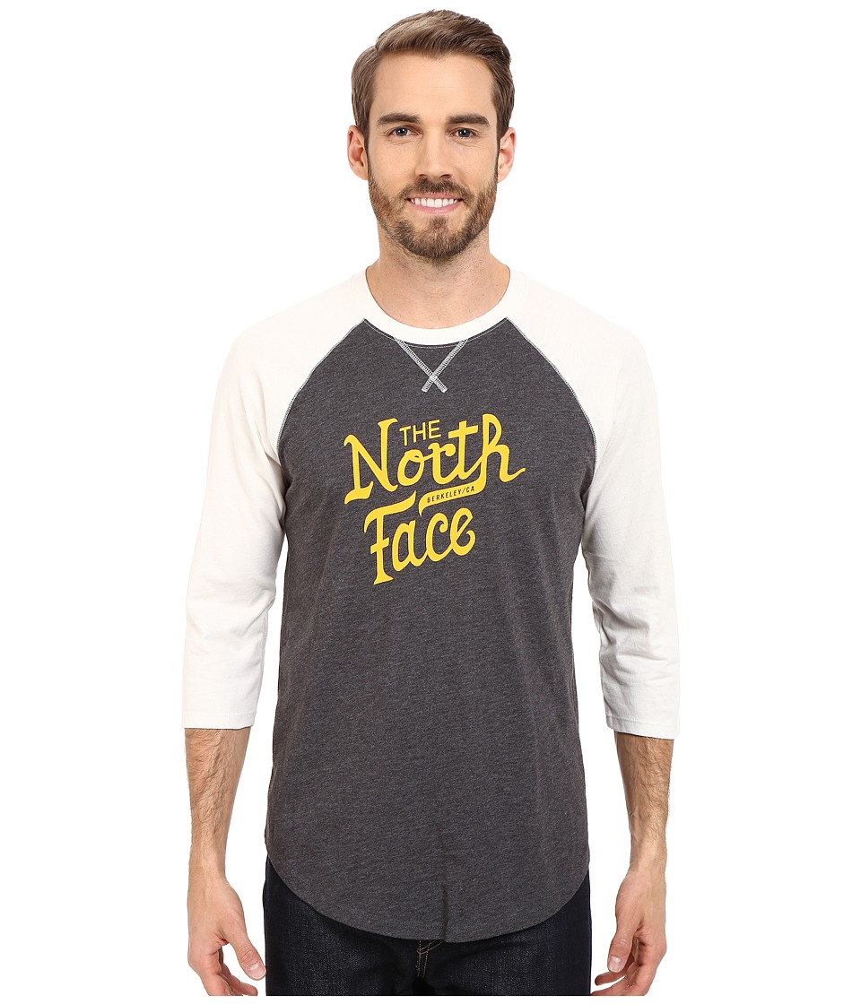 The North Face - 3/4 Sleeve Alpine Varsity Club Tee (TNF Dark Grey Heather) Men