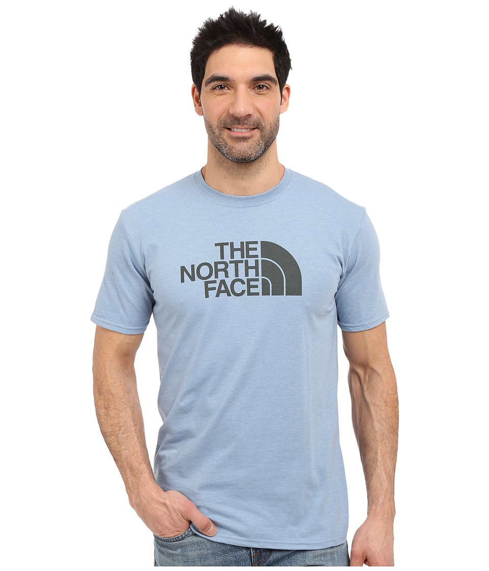 The North Face - Short Sleeve Half Dome Tee (Faded Denim Heather/Spruce Green) Men