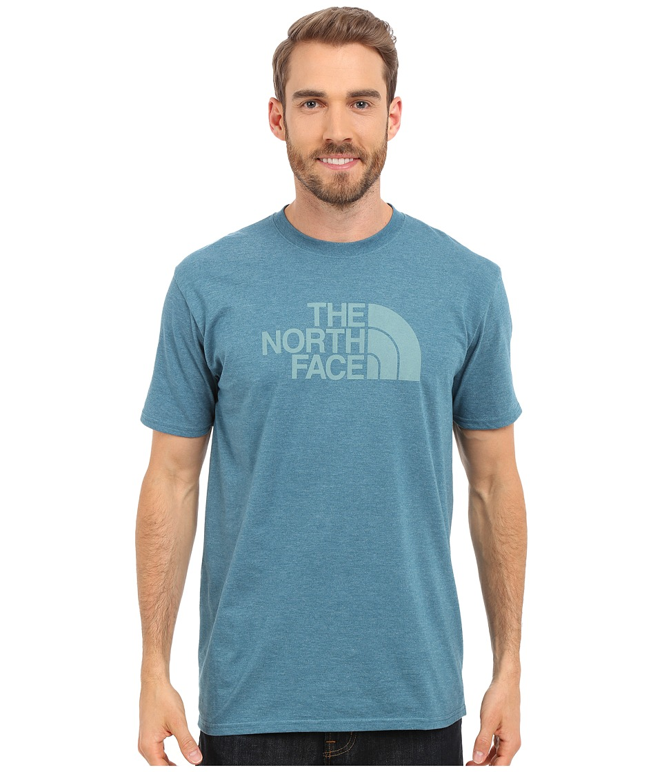 The North Face - Short Sleeve Half Dome Tee (Blue Coral Heather/Mineral Blue) Men
