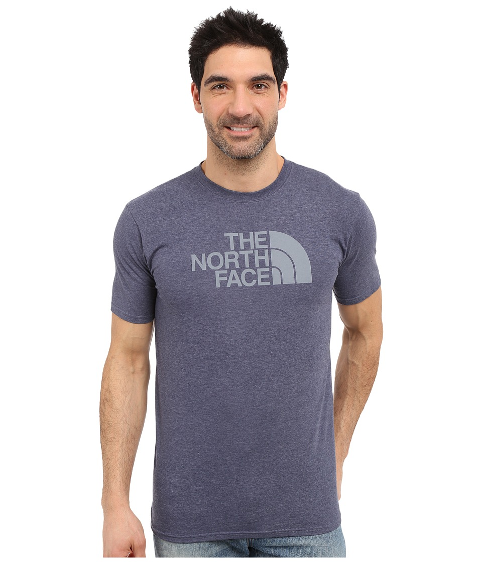 The North Face - Short Sleeve Half Dome Tee (Cosmic Blue Heather/Mid Grey) Men