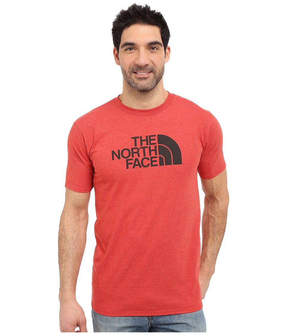 The North Face - Short Sleeve Half Dome Tee (Pompeian Red Heather/Asphalt Grey) Men