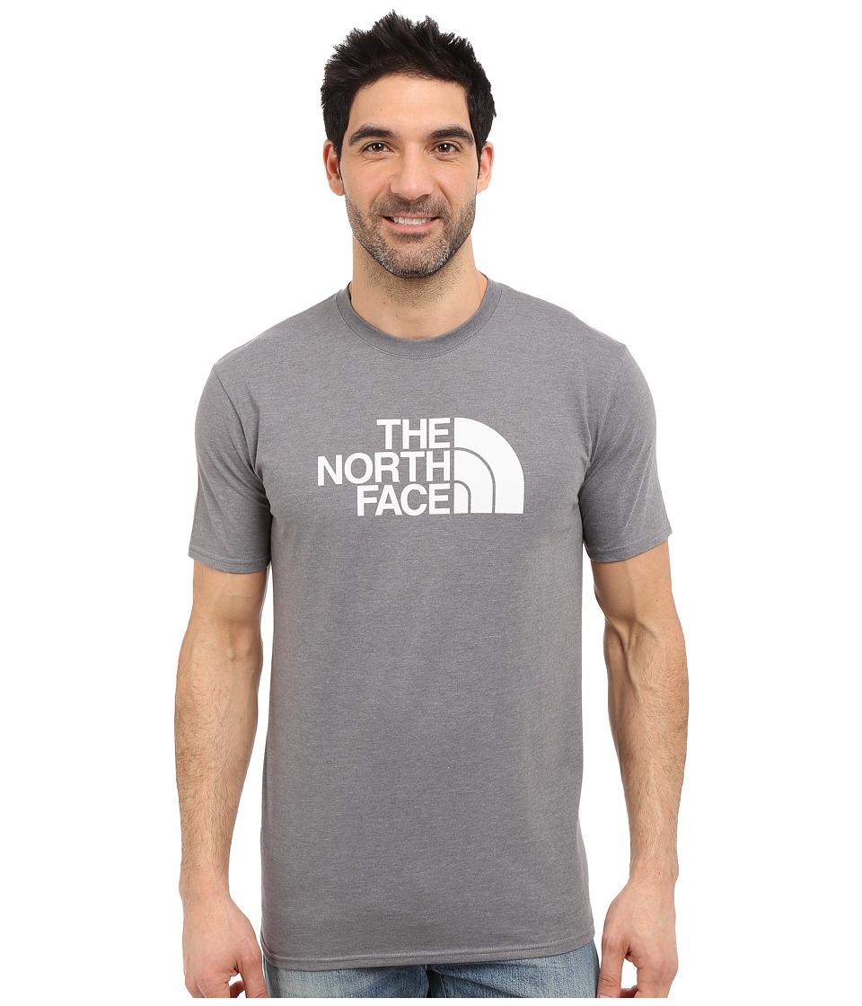 The North Face Short Sleeve 1/2 Dome Tee (TNF Medium Grey Heather/TNF White) Men