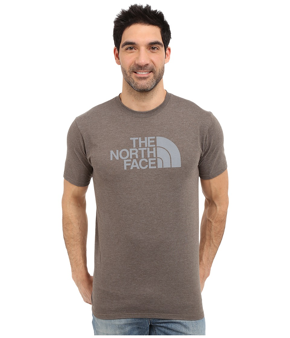 The North Face - Short Sleeve Half Dome Tee (Weimaraner Brown Heather/Mid Grey) Men