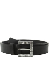 MICHAEL Michael Kors - 32mm Veg Leather Buckle on Jeweled Baguette Buckle and Loop