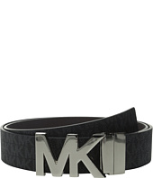 MICHAEL Michael Kors - 38mm Reversible Logo PVC to Saffiano on MK Plaque Buckle Belt