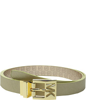 MICHAEL Michael Kors - 25mm Reversible Saffiano to Jet Set Embossed Logo Belt on Cut Out MK Logo Buckle