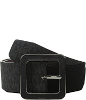 MICHAEL Michael Kors - 50mm Logo PVC Waist Belt on Saffiano Inlay Buckle with Stretch Back