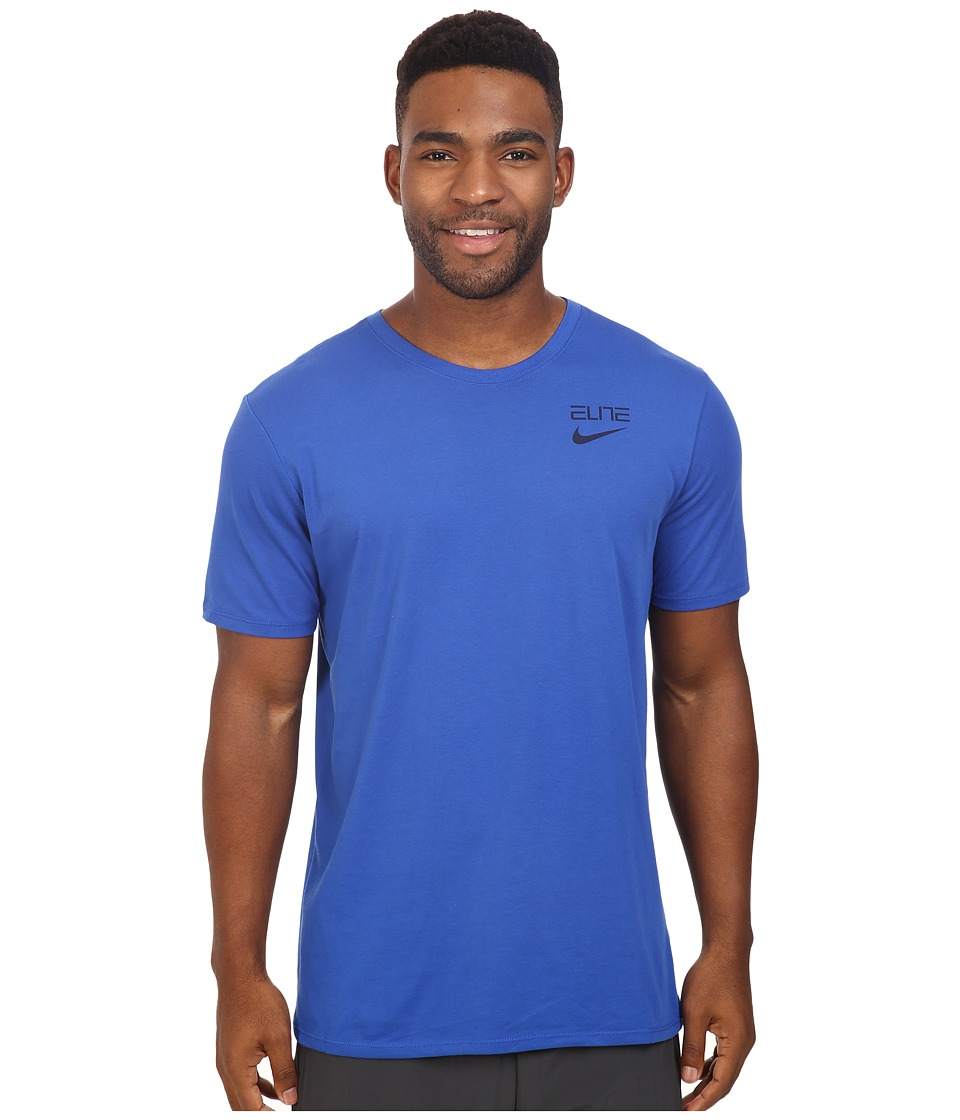 Nike Elite Back Stripe Tee (Game Royal/Game Royal/Obsidian) Men