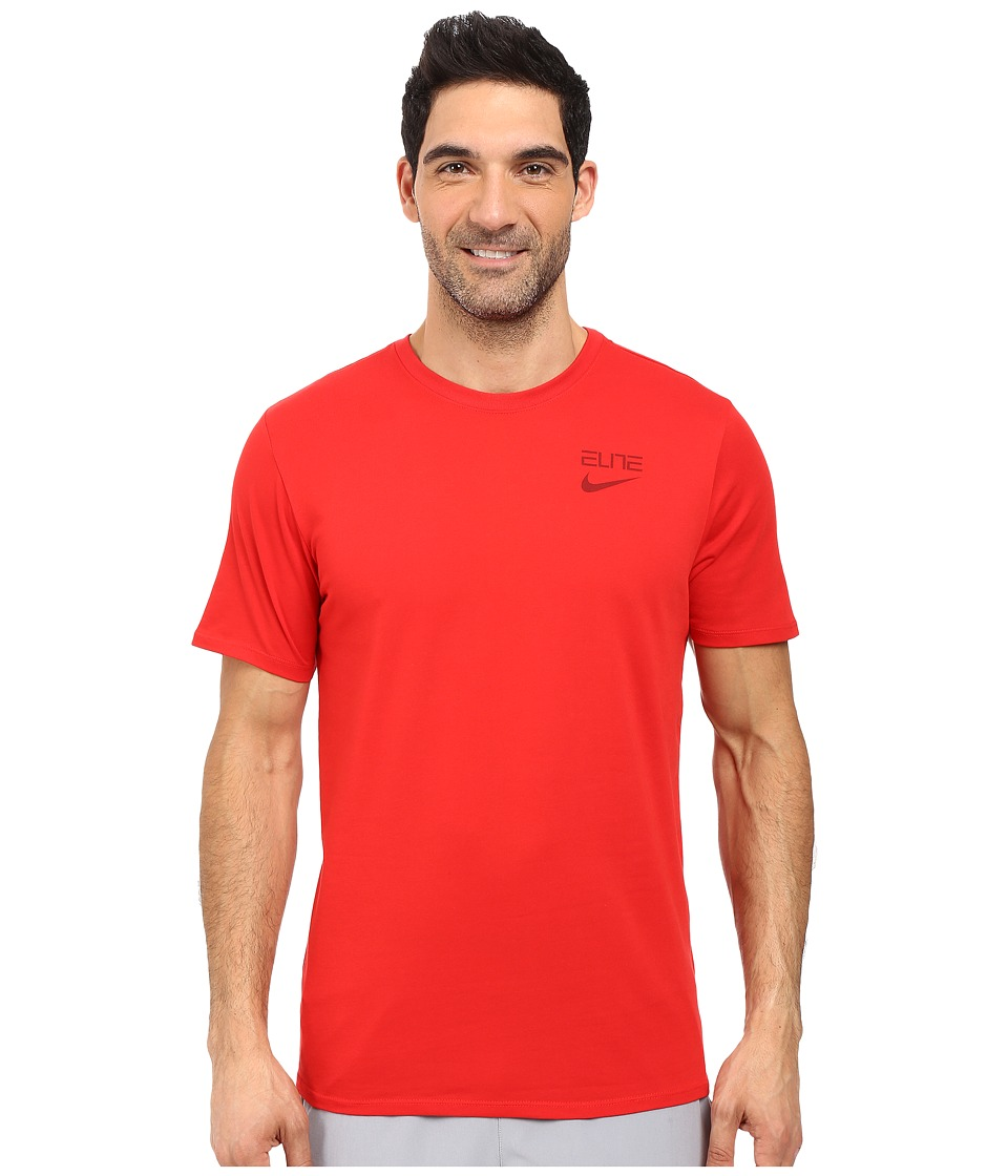 Nike Elite Back Stripe Tee (University Red/University Red/Team Red) Men