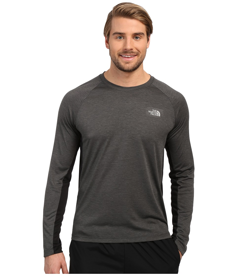 The North Face Ambition Long Sleeve Shirt TNF Black Heather Mens Long Sleeve Pullover