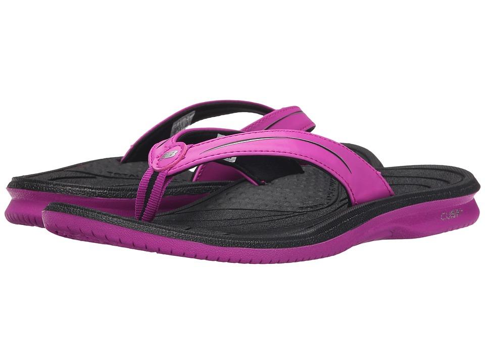 New Balance Cush+ Thong (Black/Pink) Women